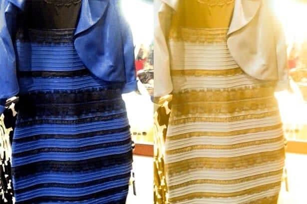 Kleur jurk blauw of goud