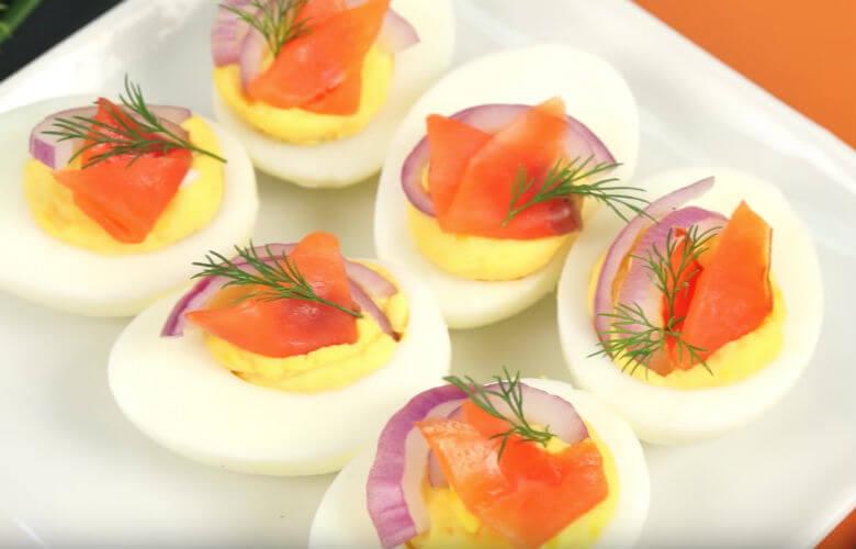 gevulde eieren zalm
